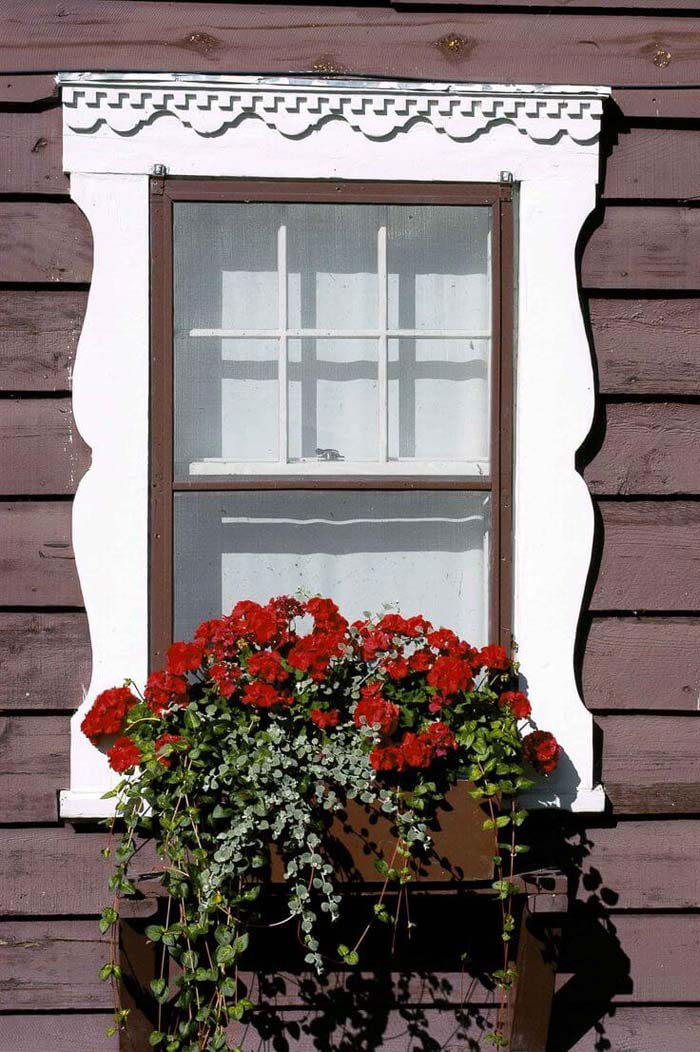 Flower Box in Decorative Window Frame #planter #box #window #decorhomeideas