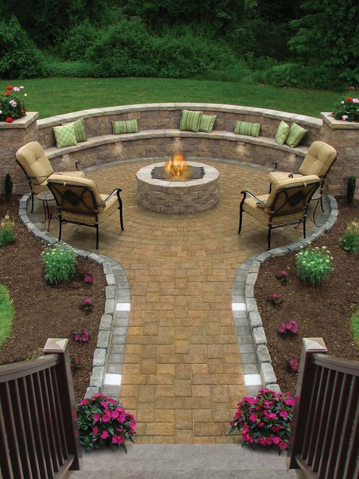 Garden Path Leading to a Fire Hole #diy #round #firepit #decorhomeideas