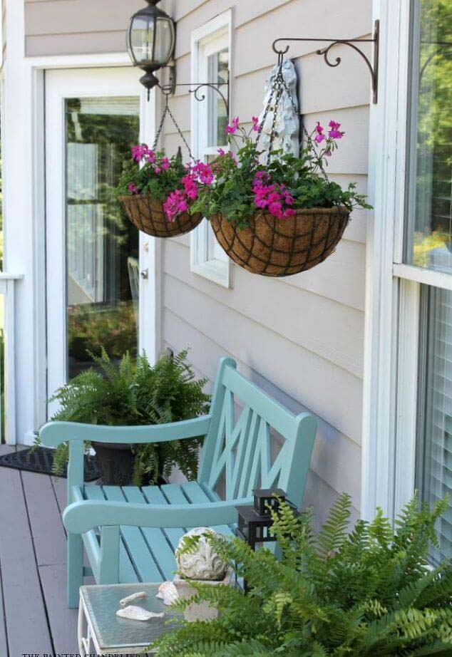 Hanging Coir Planters #diy #planter #porch #decorhomeideas