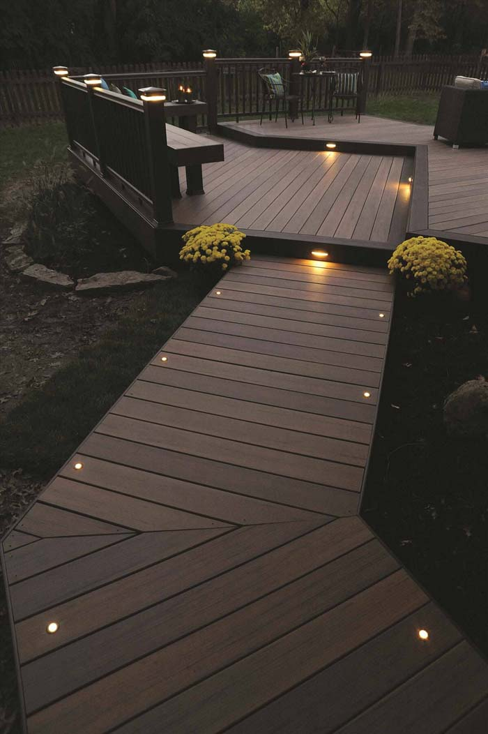 Lights to Mark the Edge of the Path #lighting #landscape #garden #decorhomeideas