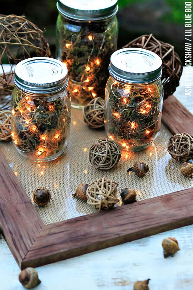 Mason Jar Firefly Lanterns #diy #masonjar #lights #decorhomeideas