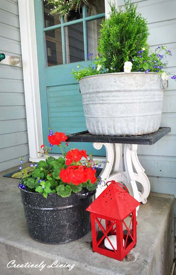 Multi-Level Flower Arrangement #diy #planter #porch #decorhomeideas
