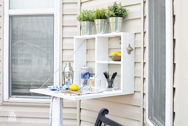 Outdoor Serving Station #diy #patio #decorations #decorhomeideas