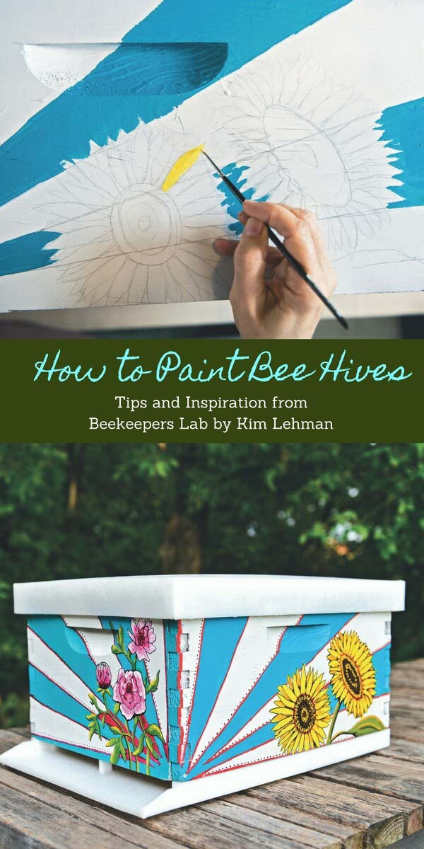 Painted Beehives #diy #paint #garden #decorations #decorhomeideas