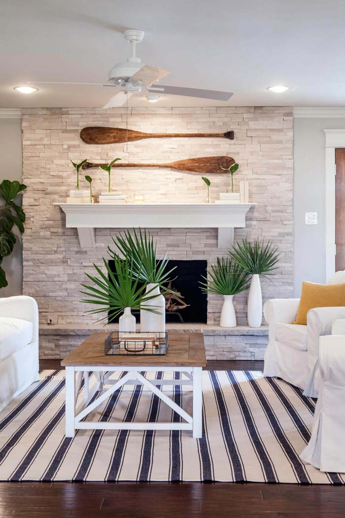 Palm-Inspired Beach and Coastal Decorating Ideas #beach #coastal #decoration #decorhomeideas