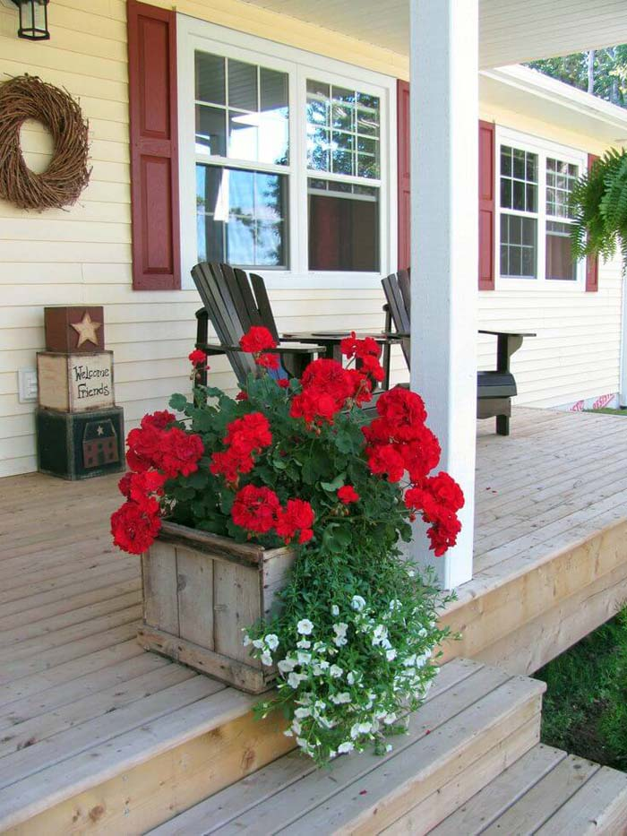 Reclaimed Wooden Box #diy #planter #porch #decorhomeideas
