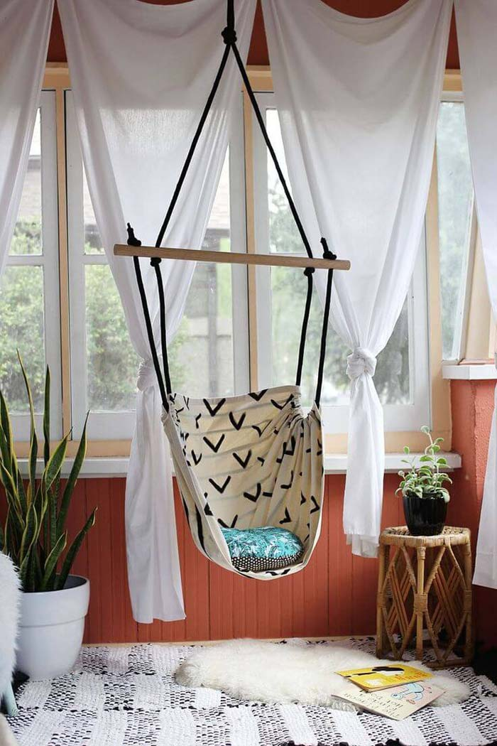 Rope Ladder Suspended Sailor Swing #diy #outdoor #furniture #decorhomeideas