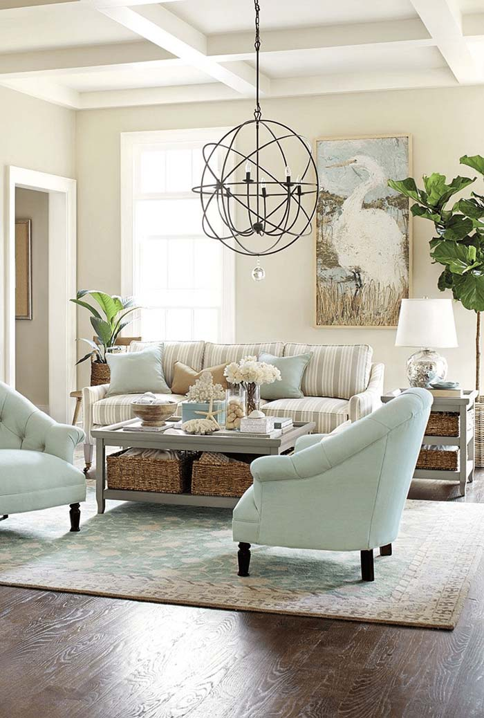 Sand, Seashells, and Soft Beach-Themed Undertones #beach #coastal #decoration #decorhomeideas