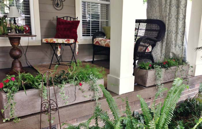 Simple Rectangular Concrete Planters #diy #planter #porch #decorhomeideas