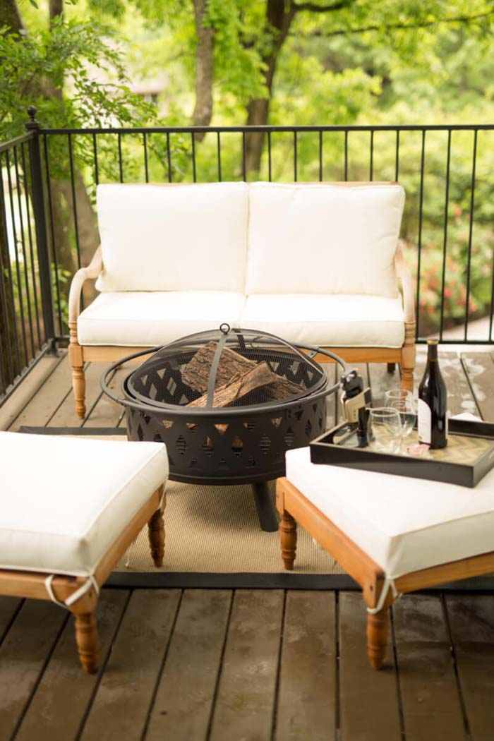 Sitting Area With Fire Pit #backyard #sitting #area #decorhomeideas