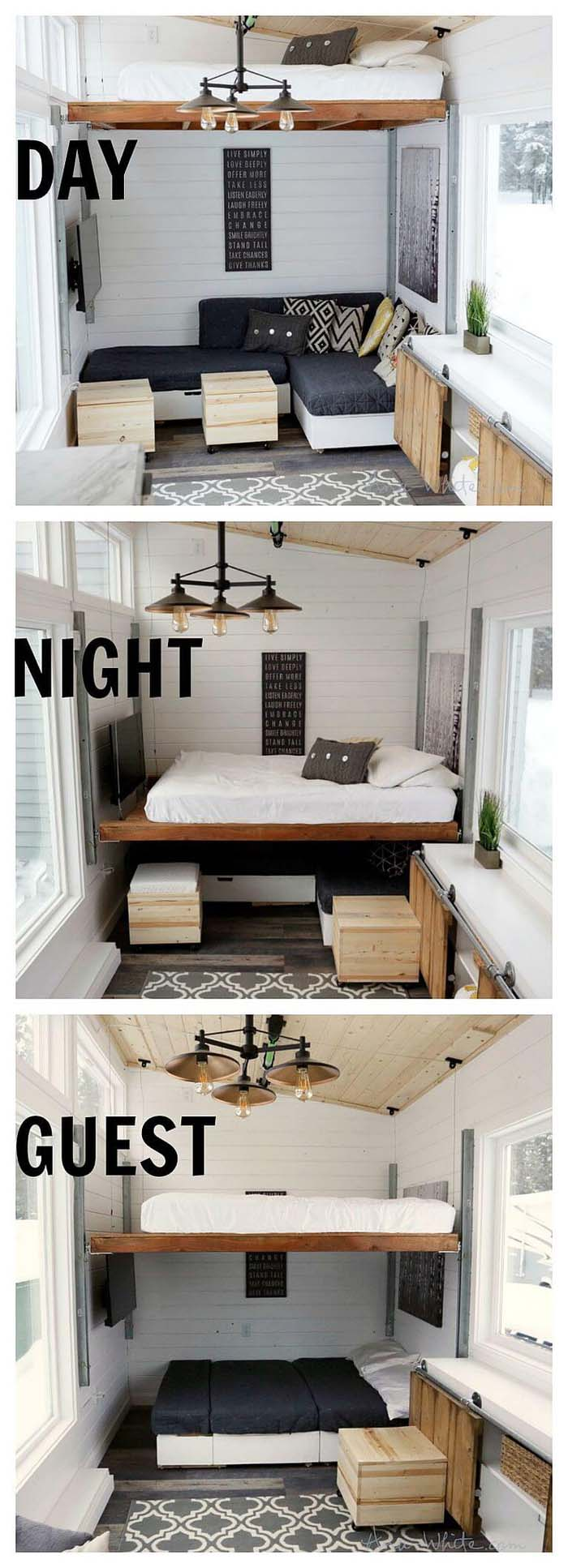Sliding Loft that Adjusts to Your Needs #bedroom #small #design #decorhomeideas