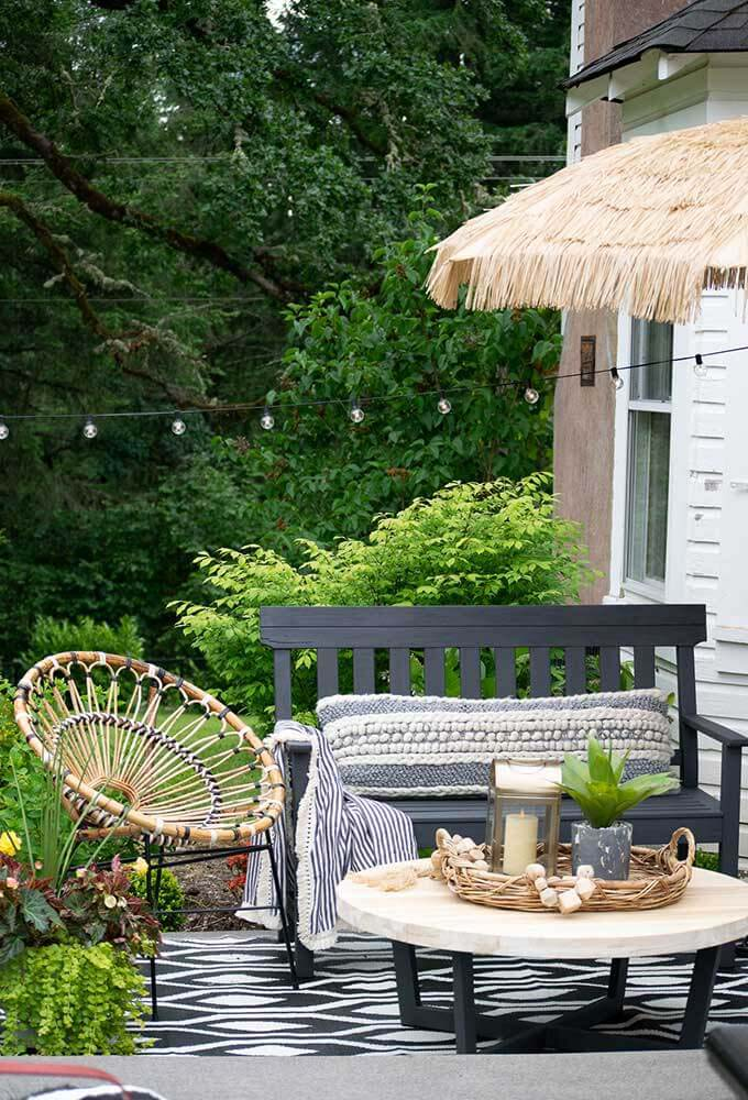 Sophisticated Bohemian Outdoor Setting #backyard #sitting #area #decorhomeideas