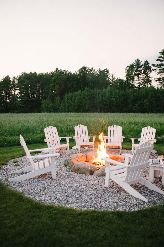 Sunset by the Fire #diy #round #firepit #decorhomeideas
