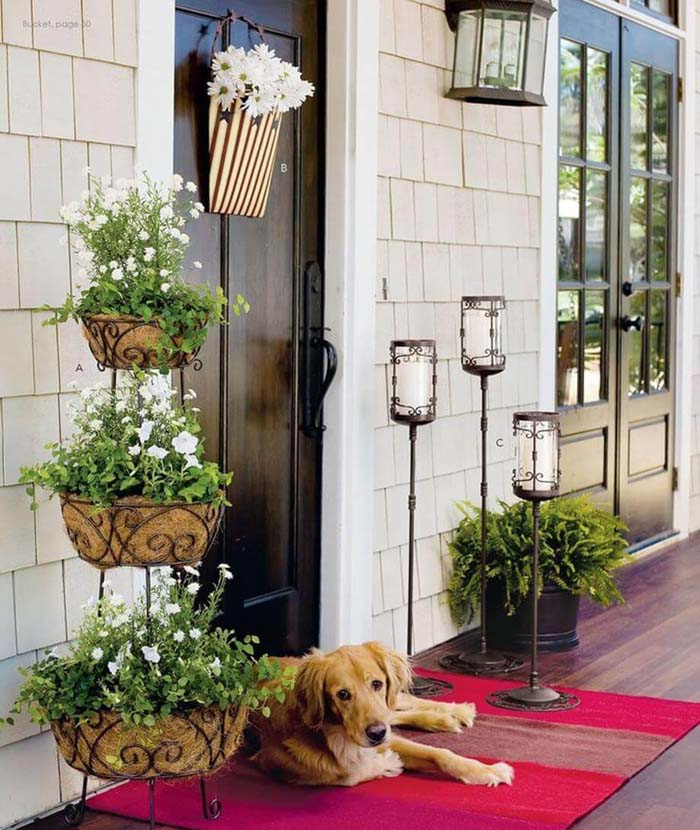 Three Level Coir Planter #diy #planter #porch #decorhomeideas