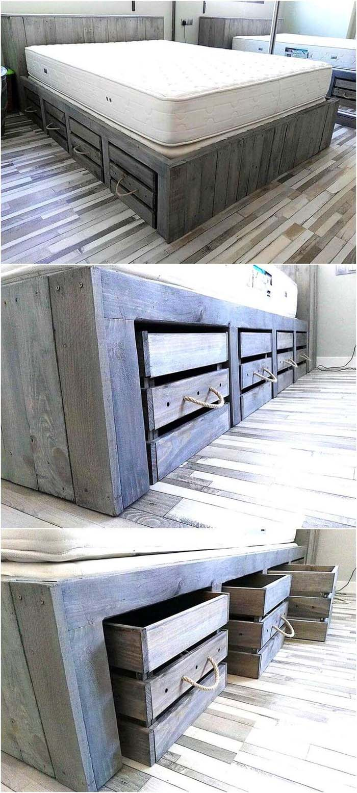 Under Bed Storage that's Easy to Reach #bedroom #small #design #decorhomeideas