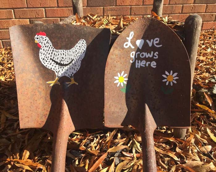 Upcycled Shovel Garden Art #garden #upcycled #diy #decorhomeideas