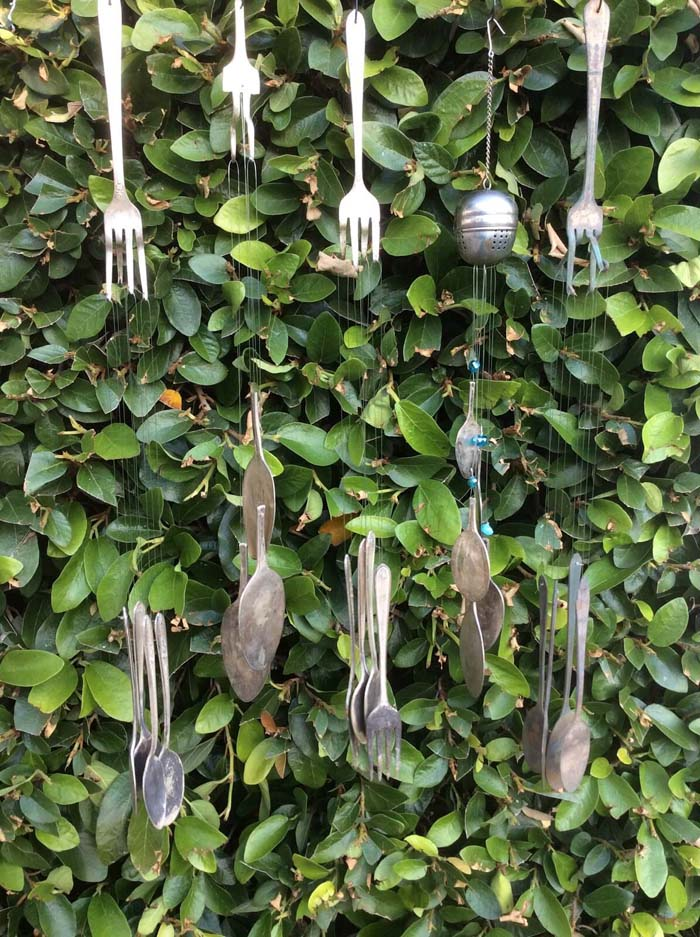 Utensil Wind Chime #garden #upcycled #diy #decorhomeideas