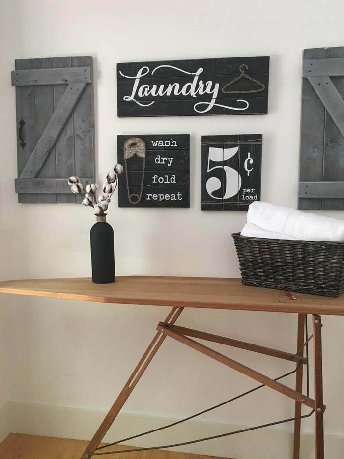 3-Piece Vintage Laundry Room Sign Set #small #entryway #decor #decorhomeideas