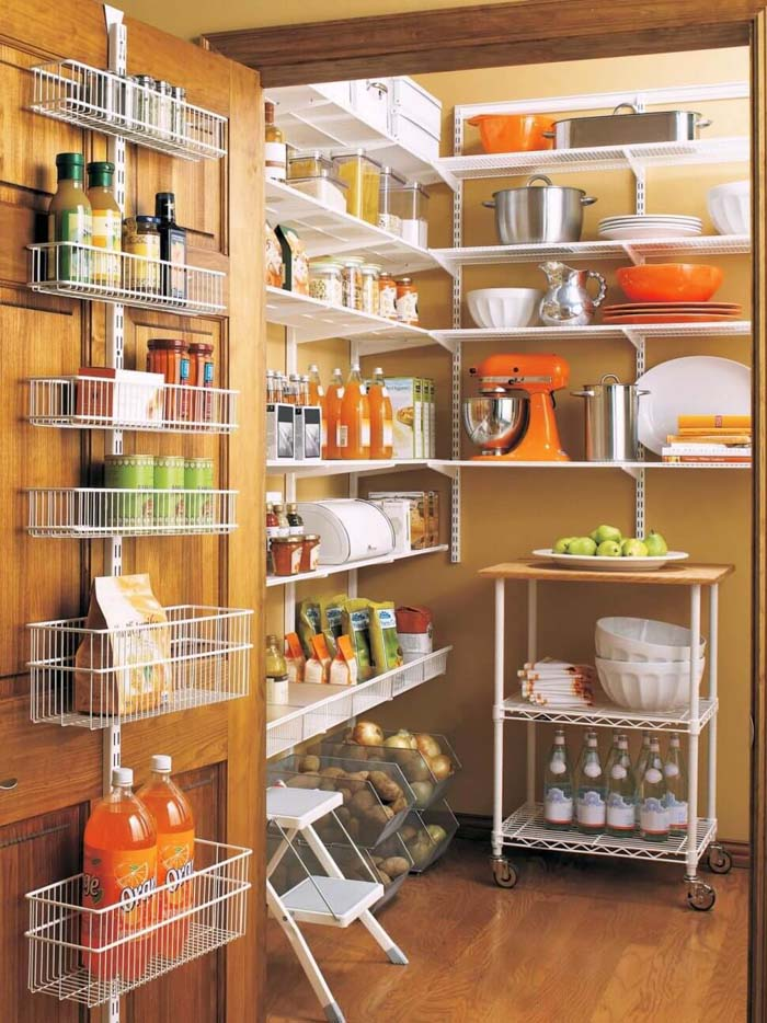 Airy Shelves for Food and Small Appliances #pantry #storage #organization #decorhomeideas