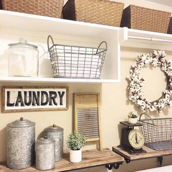 Antique Metal Laundry Room Decor Ideas #small #entryway #decor #decorhomeideas