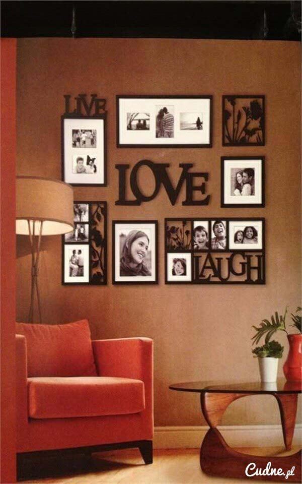 Arrange Various Frames in a Square #wall #gallery #decor #decorhomeideas