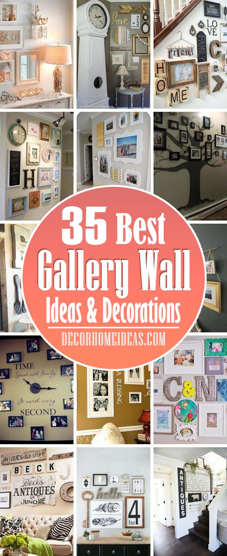 Best Gallery Wall Ideas. Take your gallery wall decor to the next level with these inspiring examples that will show you new ways to hang your photos and artwork. #decorhomeideas