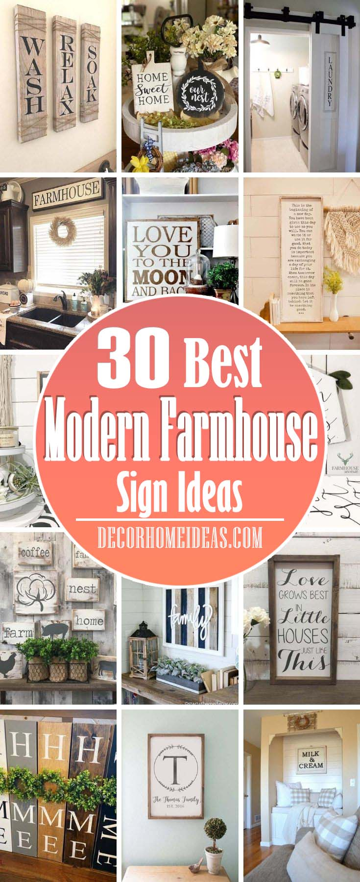 Best Modern Farmhouse Sign Ideas. Modern farmhouse sign ideas that will charm your guests and make your home even more adorable. The best designs are here just for you! #decorhomeideas