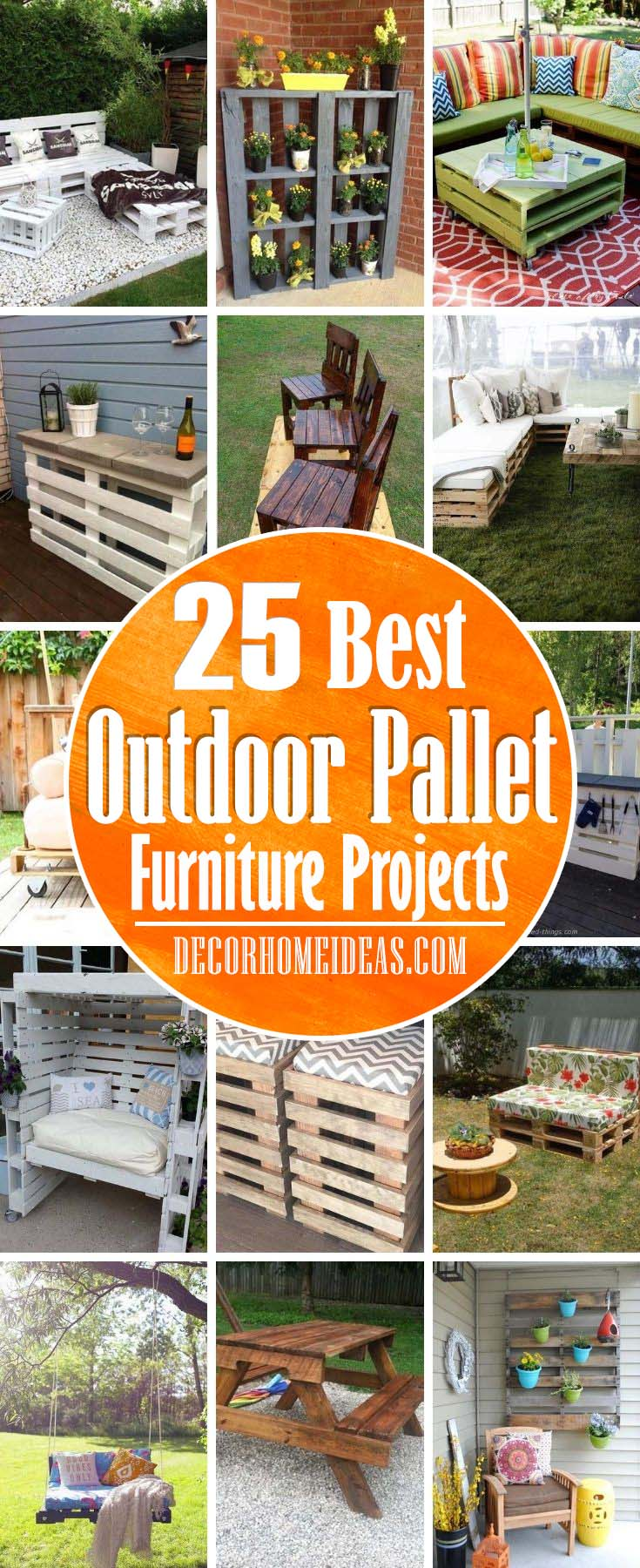 Best Outdoor Pallet Furniture Projects. If you are looking for some inexpensive garden furniture ideas, those made out of pallets would be nice to consider. #decorhomeideas