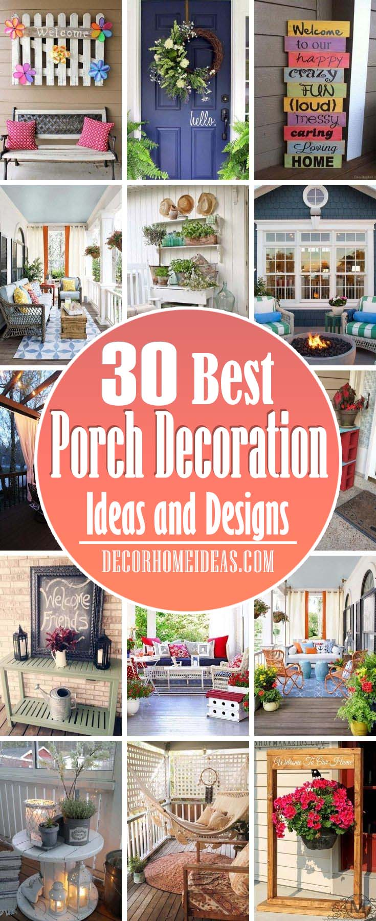 Best Porch Decoration Ideas. Front porches and back patios are our favorite spots to relax in the warmer months. Make yours your favorite escape too with these best front porch ideas, including outdoor decorating ideas, patio ideas, and more.