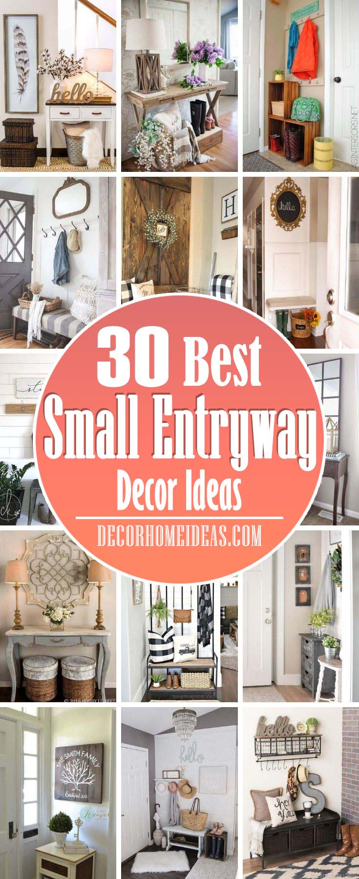 Best Small Entryway Decor Ideas. If you don't know how to decorate your small entryway so that it looks bigger and is more appealing, don't worry we've got all the best ideas here. #decorhomeideas