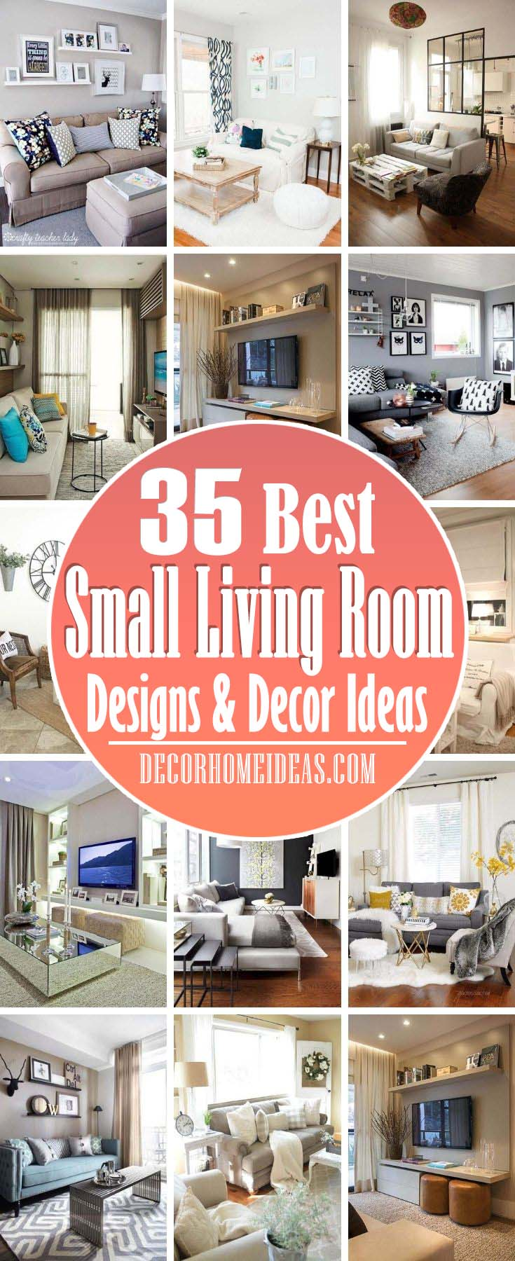 Best Small Living Room Designs Decor Ideas. If your living room is already too cluttered, the last thing you'll want to do is hang out there. But with these ideas, you can make a small living room seem bigger than it is. #decorhomeideas