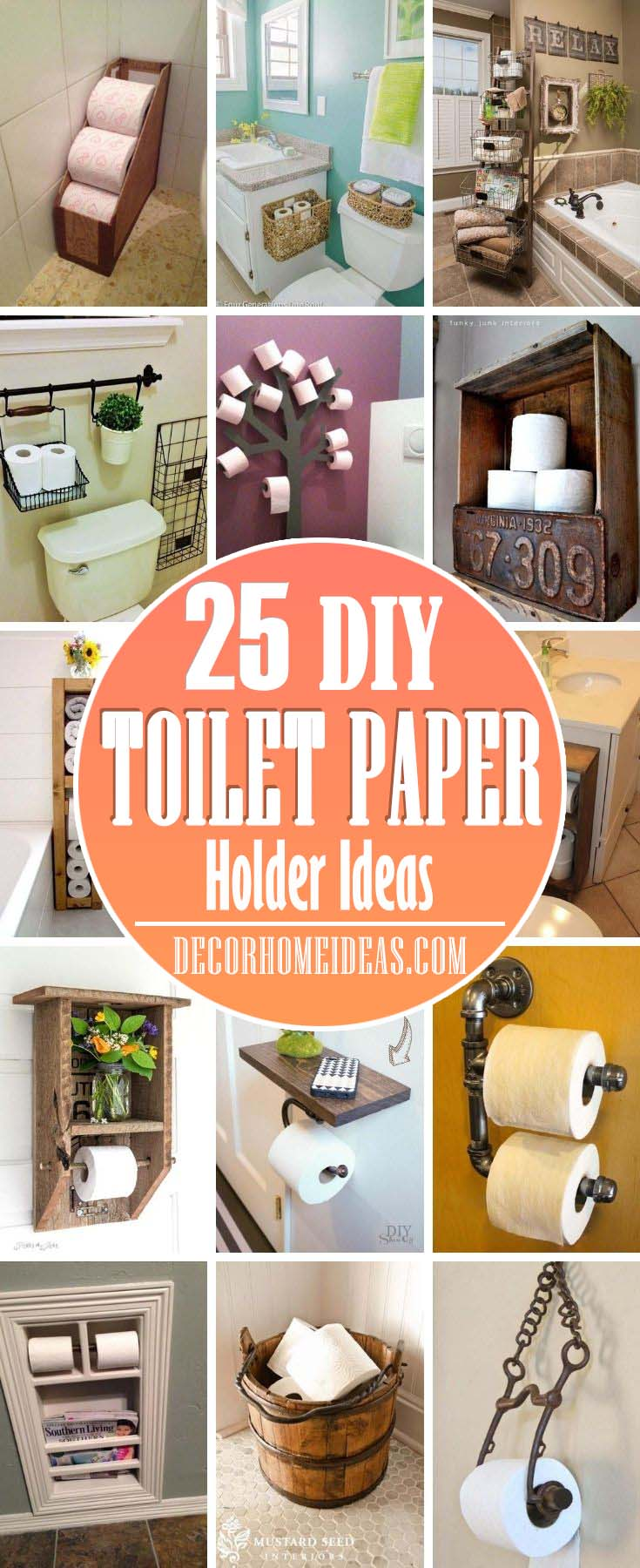 Whether you're looking for something ordinary that keeps some extra rolls on hand and is out of sight, something that provides additional storage for other bathroom accessories, or a fashionable piece, there are plenty of toilet paper holders that will fit your style. #decorhomeideas