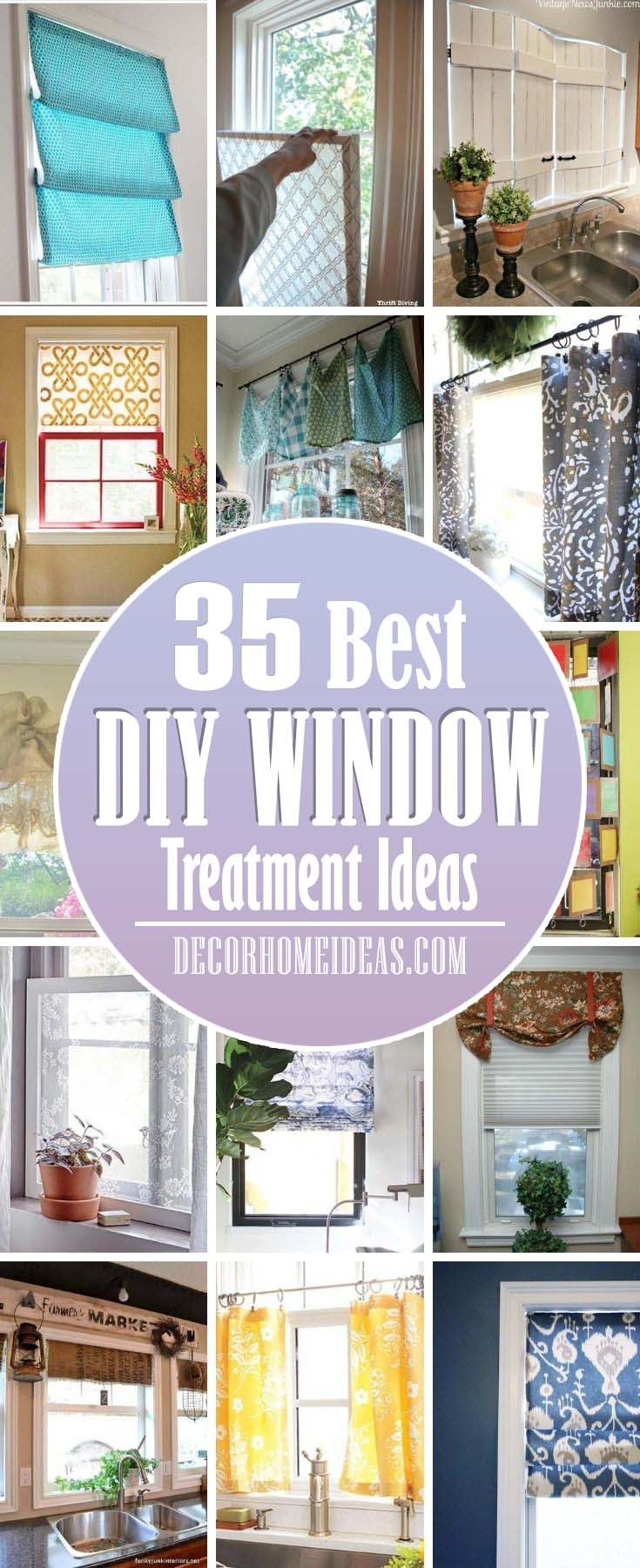 Best Window Treatment Ideas. Whether you're looking for elegant curtains, covered valances, or a simple swath of fabric, we have the best window treatment ideas for every room in the house. #decorhomeideas