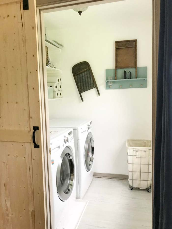 Budget Laundry Room Makeover #small #entryway #decor #decorhomeideas