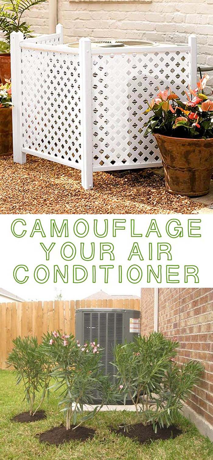 Camouflage Your Air Conditioner #outdoor #hiding #ideas #decorhomeideas