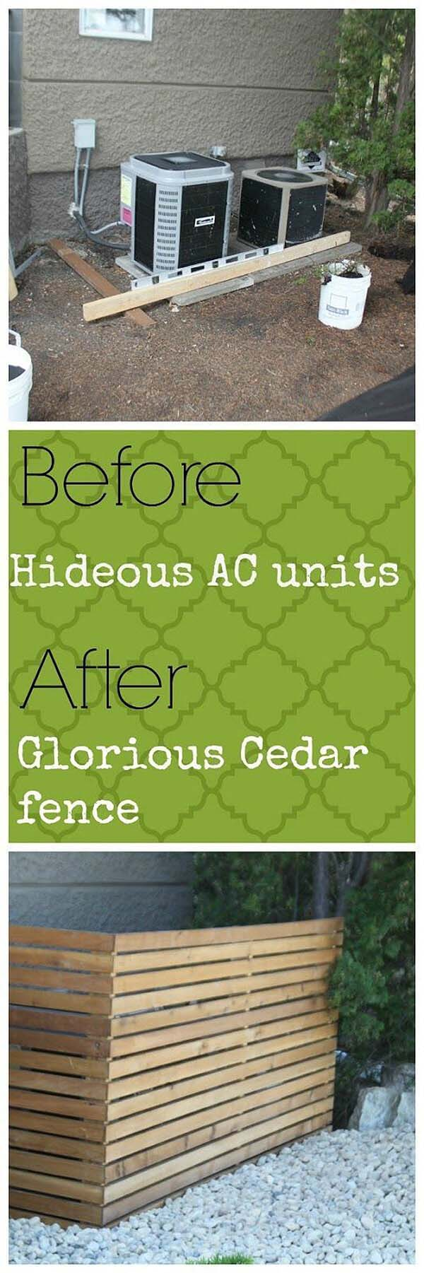 Cedar Fence Idea #outdoor #hiding #ideas #decorhomeideas