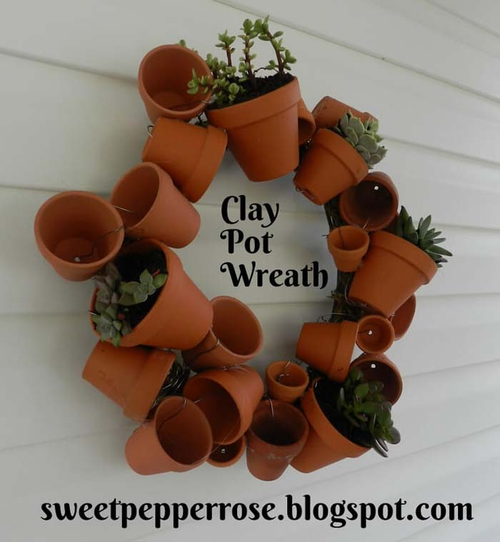 Clay Pot Wreath Tutorial #flowerpot #clay #garden #decorhomeideas