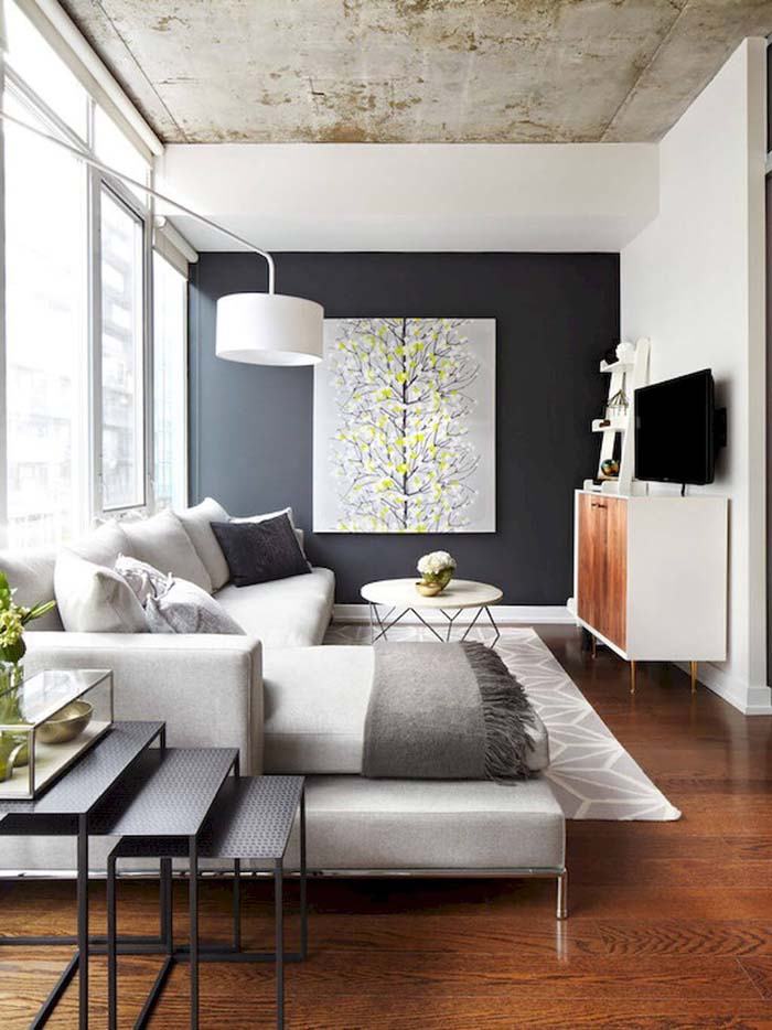 Contemporary Room with Wall Art #livingroom #design #decorhomeideas