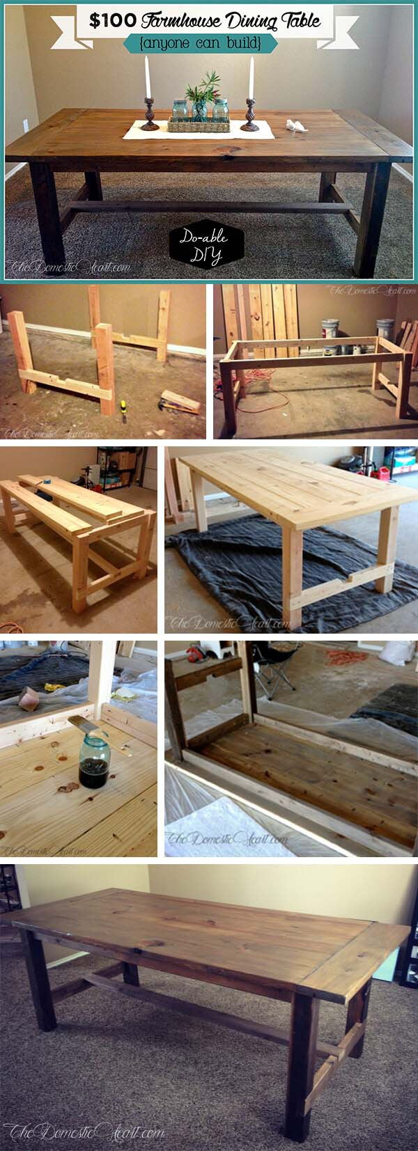 Country Dining Furniture on a Budget #diy #farmhouse #table #decorhomeideas