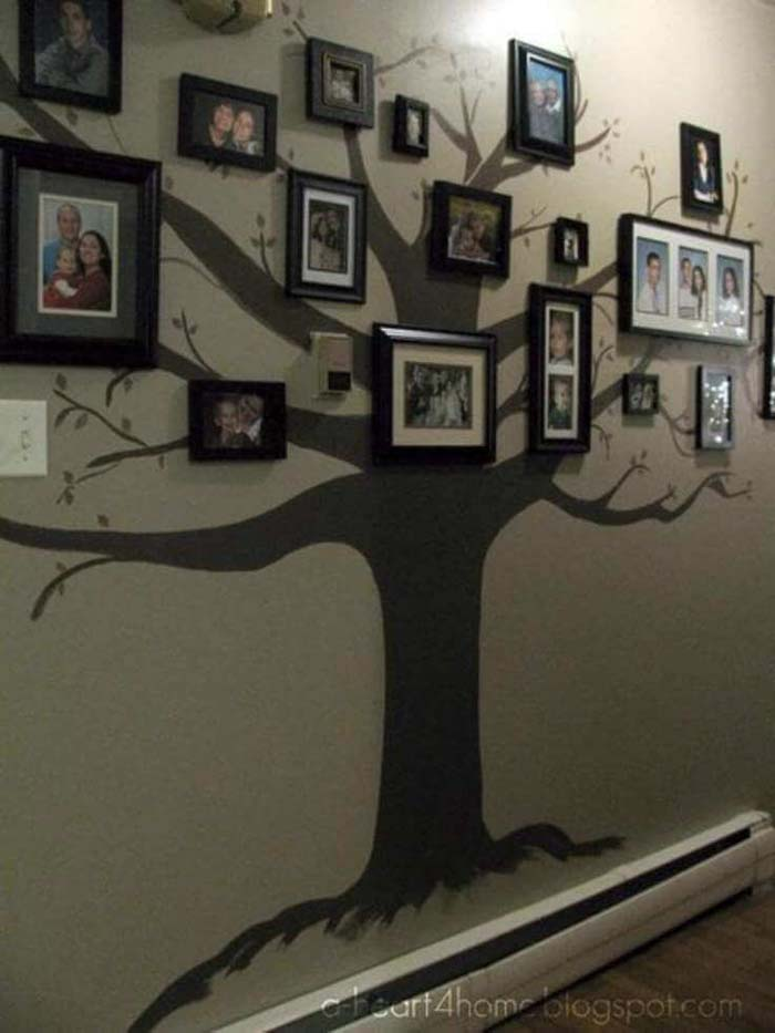 Create Your Own Family Tree Gallery #wall #gallery #decor #decorhomeideas