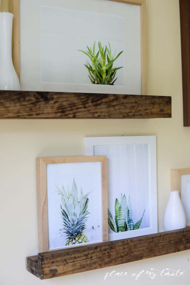 DIY Deep Picture Ledge #reclaimed #wood #projects #decorhomeideas