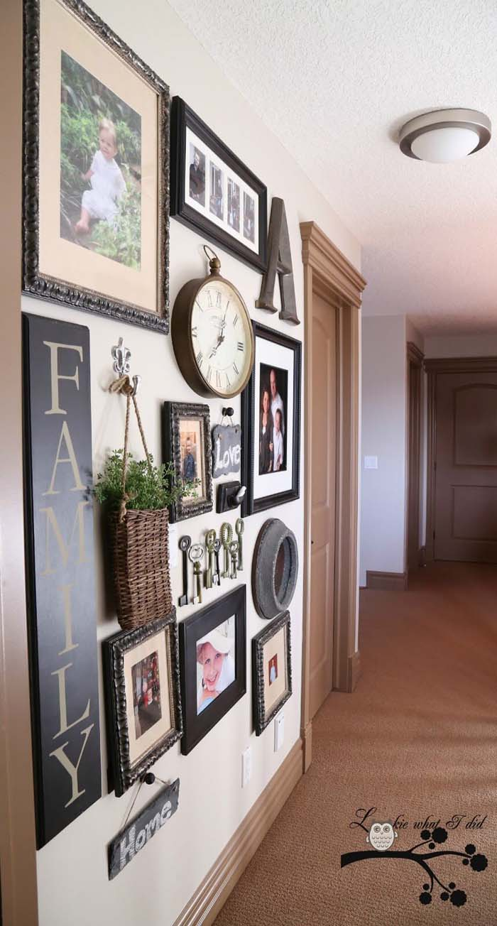 Integrate Different Elements in Your Hallway Gallery #wall #gallery #decor #decorhomeideas
