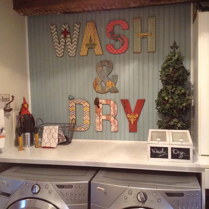 DIY Wash and Dry Wall Art #laundry #vintage #decor #decorhomeideas
