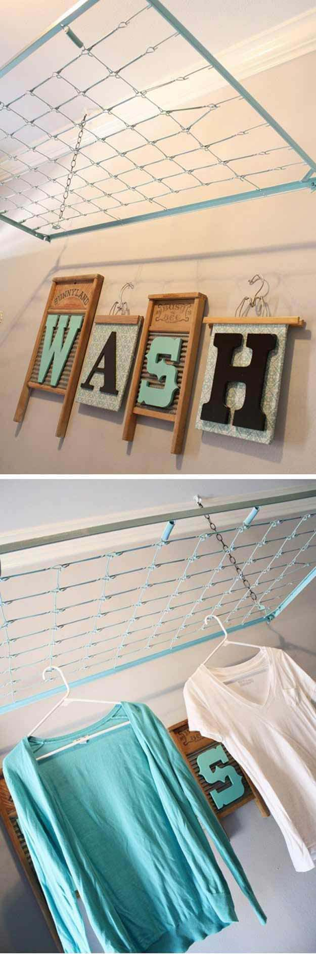 DIY Washboard  Wash Wall Art #laundry #vintage #decor #decorhomeideas