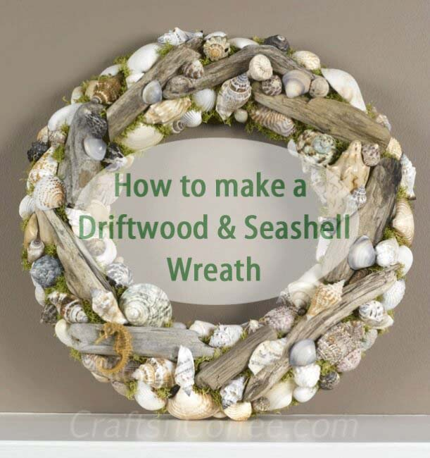Driftwood Seashell Wreath #diy #seashell #decor #decorhomeideas