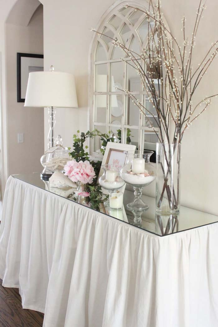 Entryway Table with Glass Top Gala #entry #table #decorhomeideas