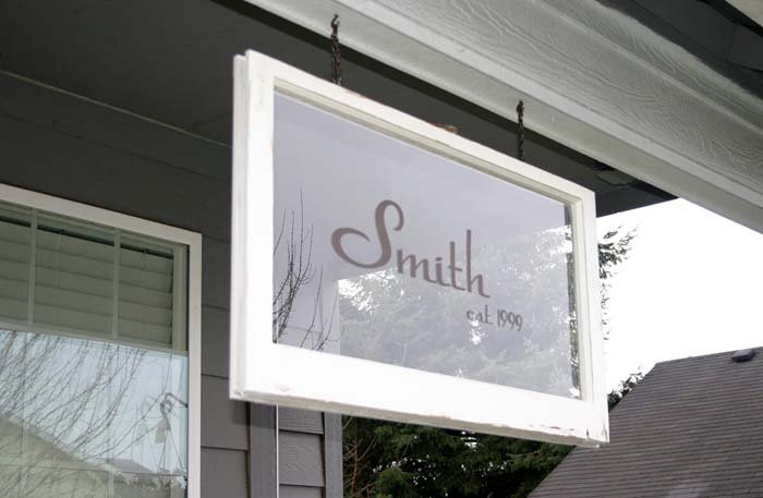 Family Name Established Sign #old #window #garden #decorhomeideas