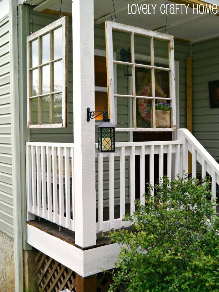 Hang Window Frames on the Front Porch #old #window #garden #decorhomeideas