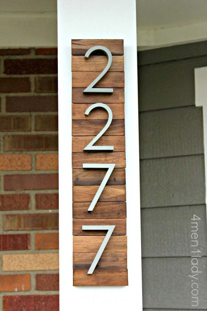 House-Numbers #reclaimed #wood #projects #decorhomeideas