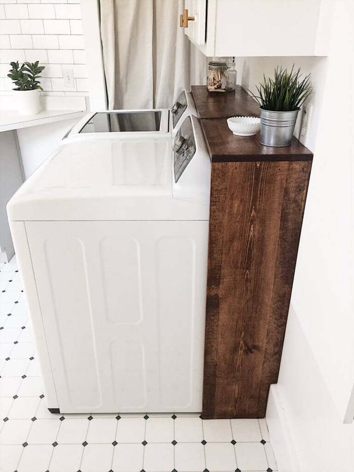 Laundry Room Makeover for Under $100 #laundry #vintage #decor #decorhomeideas